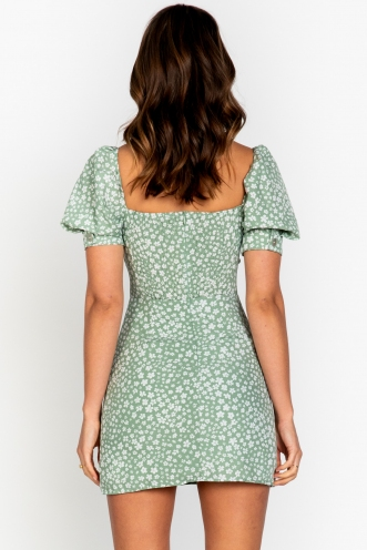 Ms Jackson Dress Green Floral