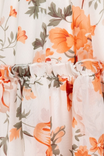 Carmen Dress Orange Floral