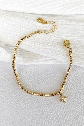 Tropic Beaded Bracelet Gold