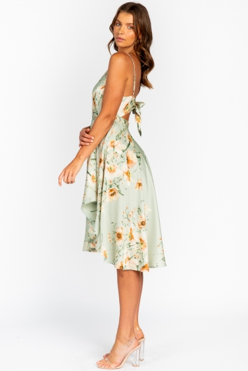 Rebecca Dress Mint Floral