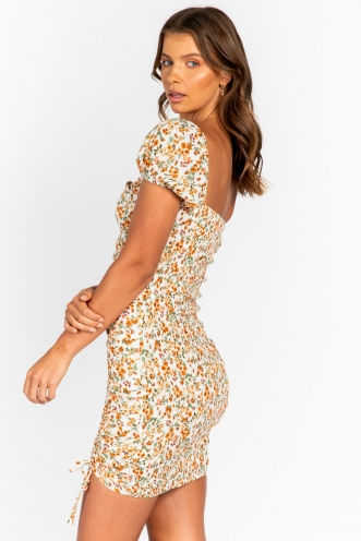 Marina Dress Orange Floral