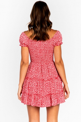 Eden Dress Red Floral