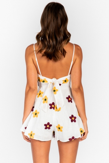 Picnic Time Playsuit White Floral