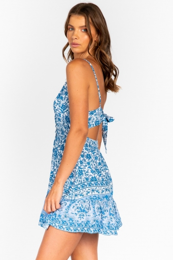 Better Than This Dress Blue/White Floral