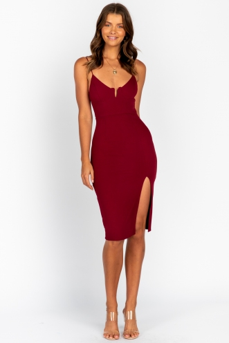 Connect Dress Maroon