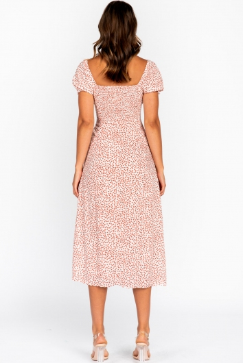 Paula Dress White/Red Floral