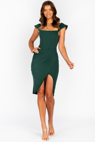 Glass Eyed Dress Green