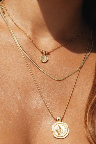 Maui Pendant Necklace Gold
