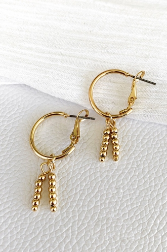 Tropic Charm Hoops Gold