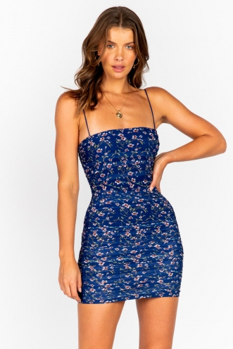 Caren Dress - Blue Floral