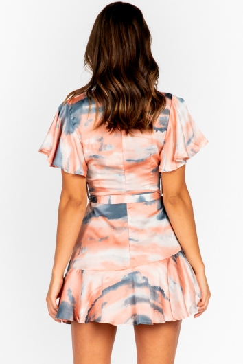 Fine Dining Dress - Pink Tie Dye
