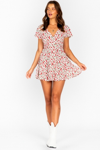 Ellie Dress - White Print