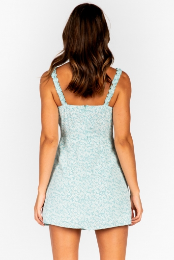Don't Remind Me Dress - Mint Print
