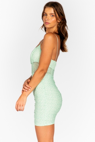 Alex Dress - Mint Print