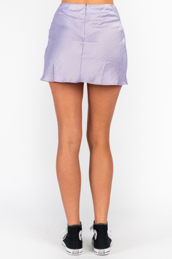 Britney Mini Skirt Lilac Silky