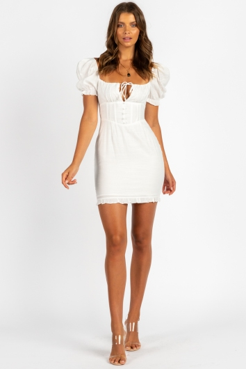 Make It With You Dress White
