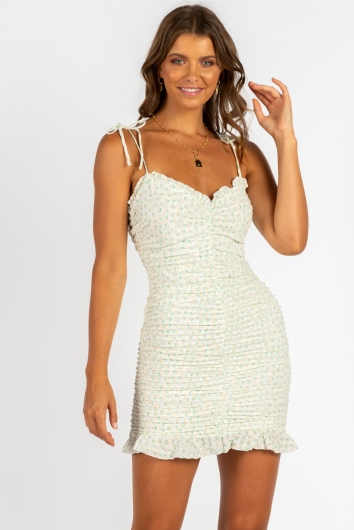 Cant Buy Happiness Dress White Print