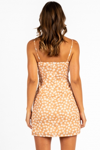 City Looks Pretty Dress Brown Floral