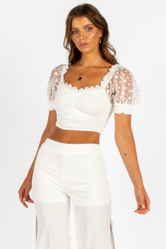 Real Thing Top White