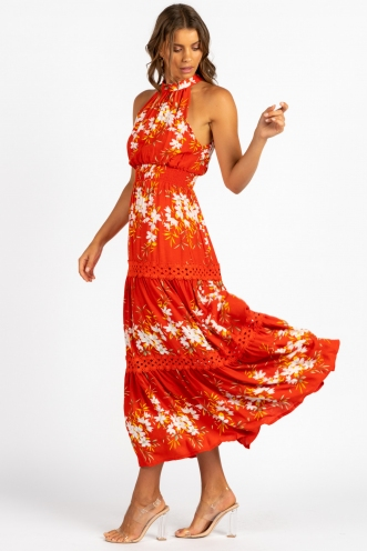 Ivey Dress Red Floral