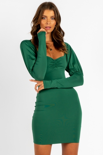By Myself Dress Green
