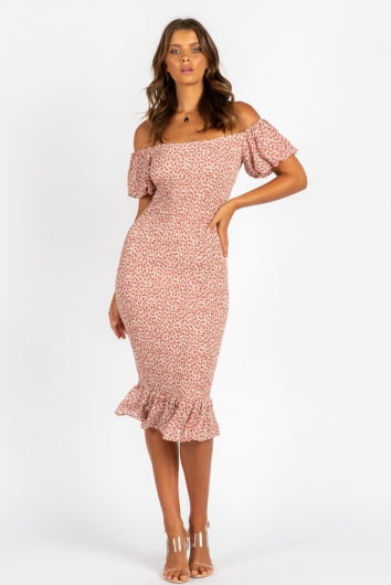 Daydreaming Dress Pink Print