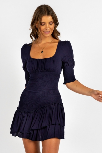 Borderline Dress Navy