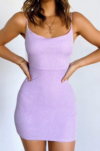 Kobie Dress - Lilac Sparkle