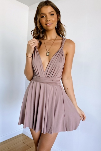 Sophie Wrap Dress - Mocha