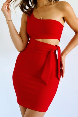 Franco Dress - Red