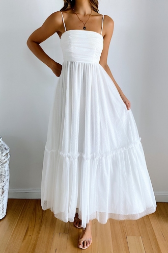 Manlin Dress - White