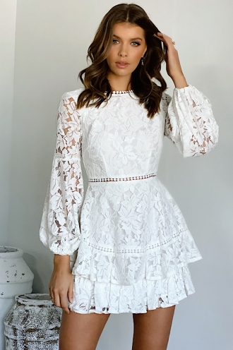 Pavilia Dress White Lace
