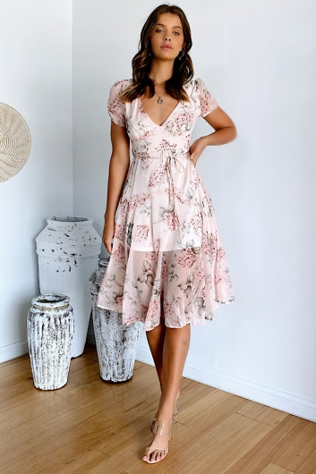Harmony Hall Dress Pink Floral