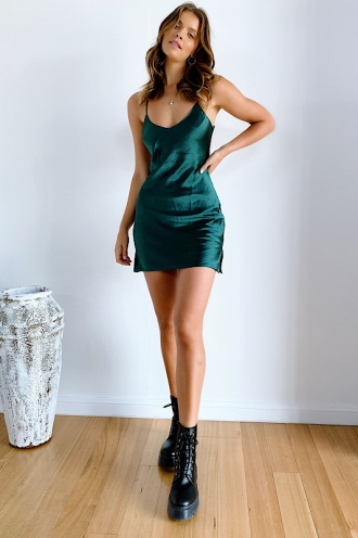 Say To Me Dress Green