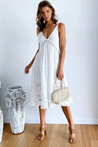 Hesty Dress - White