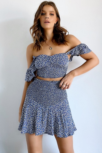 Grove Skirt Blue Floral