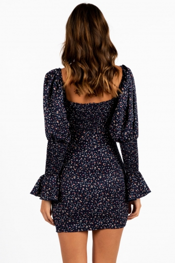 No Show Dress Navy Floral