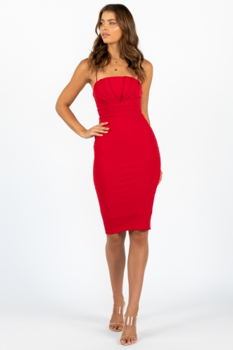 Racquel Dress Red