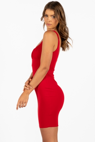 Zig Dress Red