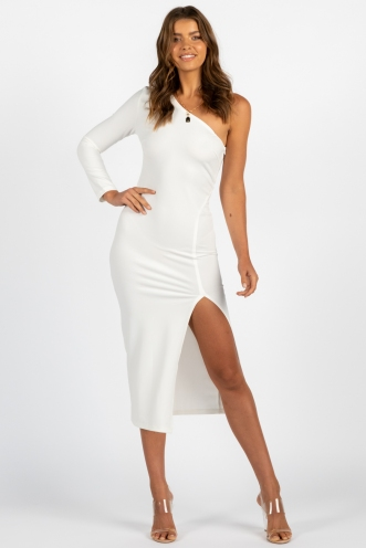 Won't Bite Dress White