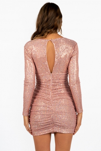 Neon Lights Dress Pink Sequin