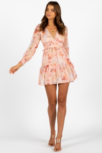 French Riveria Dress Pink Floral