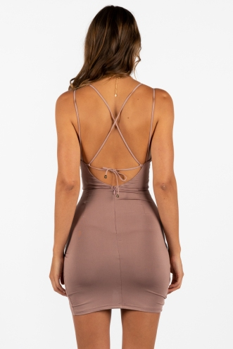 No Surprises Dress Mocha