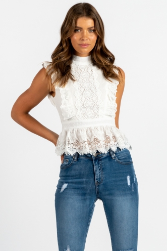 Spanish Sahara Top - White