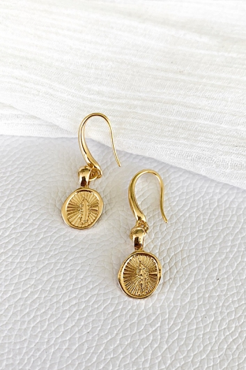 Feather Hook Earring Gold