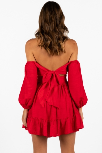 Summertime Sadness Dress Red