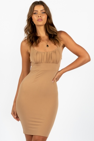Zig Dress Nude