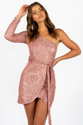 Take Five Dress Pink Sequin