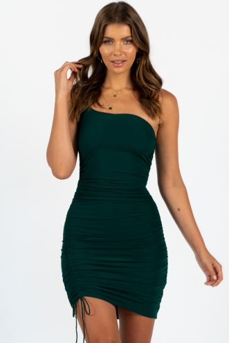 Teardrop dress green