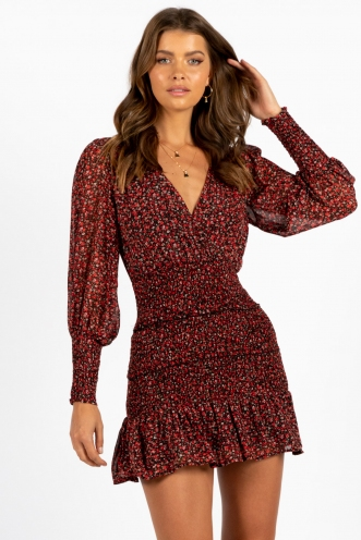Nerve Dress Red Floral